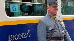 Felszentelték az Isonzó Expressz kocsiját a budapesti Vasúttörténeti Parkban