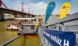 Új kikötőt avattak a Nemzeti Színház és a Müpa mellett